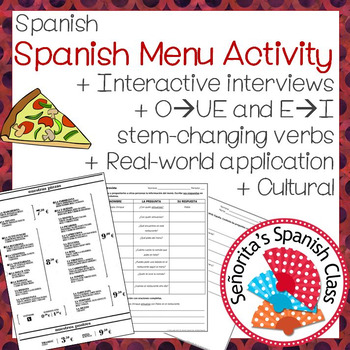 Spanish - Interactive Interview with Real Spanish Menu and