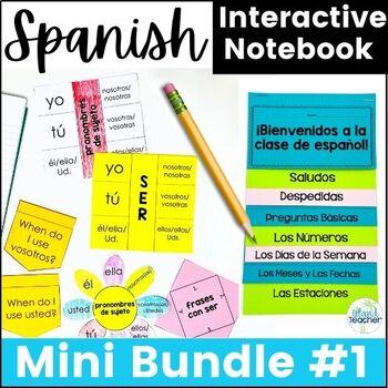 Spanish Interactive Notebook Lesson Bundle 1