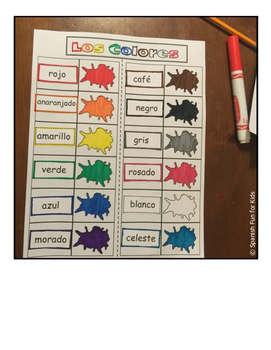 Spanish Interactive Notebook: Los Colores