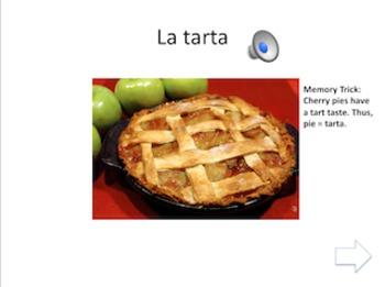 Spanish Interactive Presentation: Los Postres/Dessert Foods