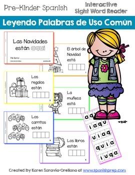 """Spanish Interactive Sight Word Reader """"El árbol de Navidad"""