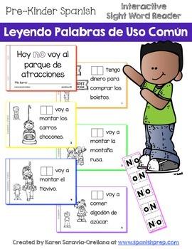 """Spanish Interactive Sight Word Reader """"Hoy NO voy al parqu"""