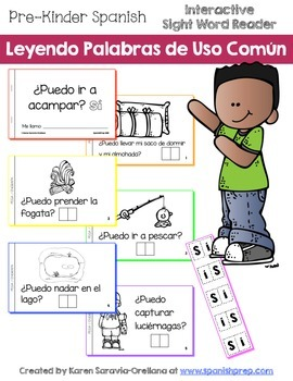"Spanish Interactive Sight Word Reader ""¿Puedo divertirme e"