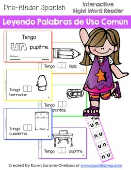 "Spanish Interactive Sight Word Reader ""Tengo UN pupitre"""