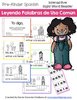"Spanish Interactive Sight Word Reader - Yo digo, ""HOLA"""