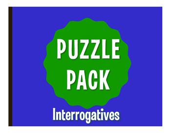 Spanish Interrogatives Puzzle Pack