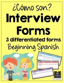 Spanish Interview Forms - ¿Cómo son? - Descriptions - Diff