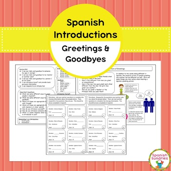 Spanish Introductions, Greetings, and Goodbyes