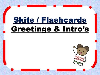 Spanish Introductions Skits and Flashcards PowerPoint Bundle