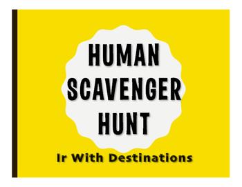 Spanish Ir Human Scavenger Hunt