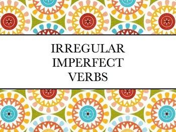 Spanish Irregular Imperfect Verbs Keynote Slideshow Presen