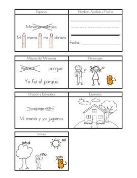 Spanish Kindergarten Writing Goal Cards