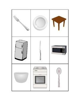 Spanish Kitchen Items Flashcards