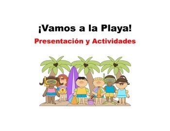Spanish La Playa presentation and activities bundle