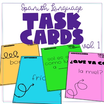 Spanish Language Card Decks volume 1