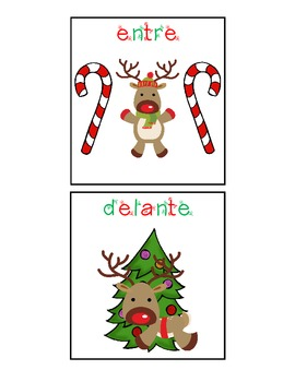 Spanish Language Christmas Spatial Concepts