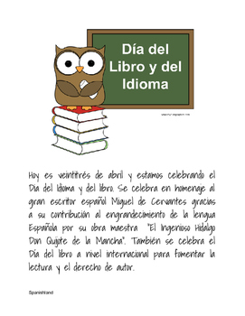 Spanish Language Day (dia del idioma y del libro)