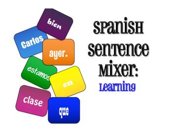 Spanish Learning Sentence Mixer