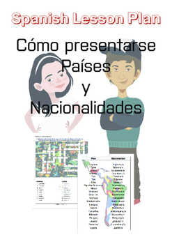 Spanish Lesson Plan: Introducing yourself| Countries|Natio
