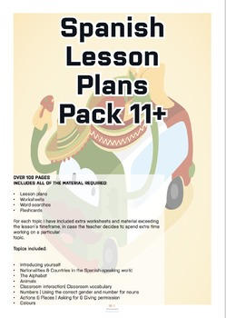 Spanish Lesson Plans Pack (Age 11+) Vol.1
