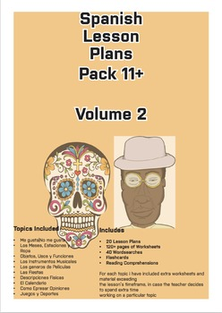 Spanish Lesson Plans Pack (Age 11+) Vol.2
