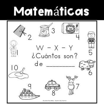 Spanish:  Letters W - X - Y Counting Book / Cuenta con las