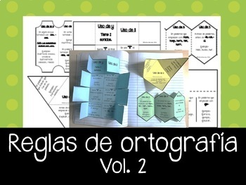 REGLAS de Ortografía en Español Vol.2 - Libro escalonado.