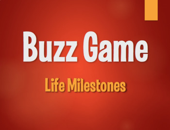 Spanish Life Milestones Buzz Game