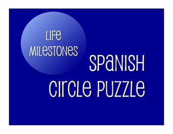 Spanish Life Milestones Circle Puzzle