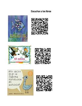 Spanish Listening Center QR Codes
