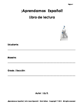 Spanish Literacy Book - Silabario Lessons 1-5