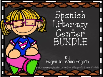 Spanish Literacy Center Bundle - {Includes 8 centers!}