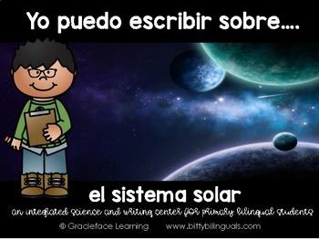 Spanish Literacy and Science Solar System – Yo puedo escri