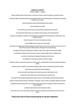 Spanish Literature - work on a poem by Eduardo Galeano - f