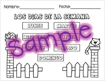 Spanish - Los Dias de la Semana / The Days of the Week