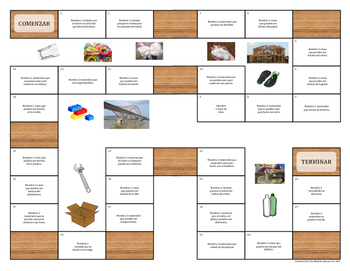 Spanish Materials Game - EET Expansion Activity