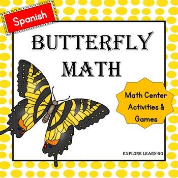Spanish Math Center Butterfly Bundle / Hands-on Activities