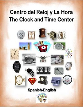Spanish Math Clocks and Time / Relojes y La Hora in a Stat