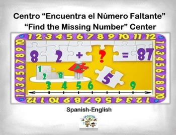 Spanish Math Find the Missing Numbers / Busca El Numero qu