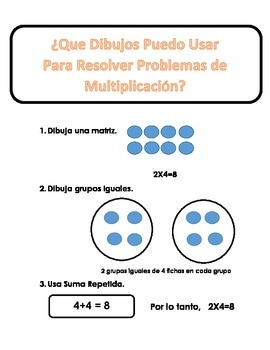 Spanish Math Strategies and Key Words for Problem Solving