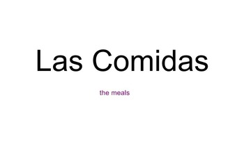Spanish Meals and Place Settings SB Doc / Activities