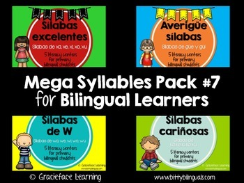 Spanish - Mega Syllables Pack #7 for Bilingual Students