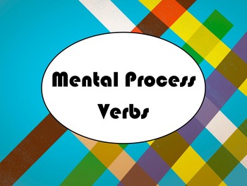 Spanish Mental Process (Verbs of Cognition) Verbs PowerPoi