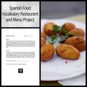 Spanish Menu and Restaurant Project