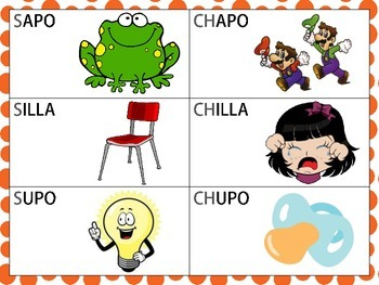 Spanish Minimal Pairs with  /s/ and /ch/ in the Initial &