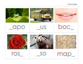 Spanish Missing Letter Centers / Worksheets –Set of 5