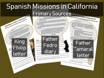 Spanish Missions in California - Primary Source with Guidi