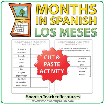 Spanish Months - Cut and Paste Activity