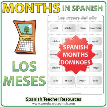 Spanish Months Dominoes