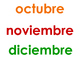 Spanish Months and Days